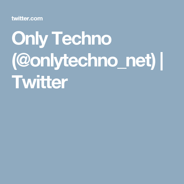 Only Techno (@onlytechno_net) | Twitter | deep house amsterdam
