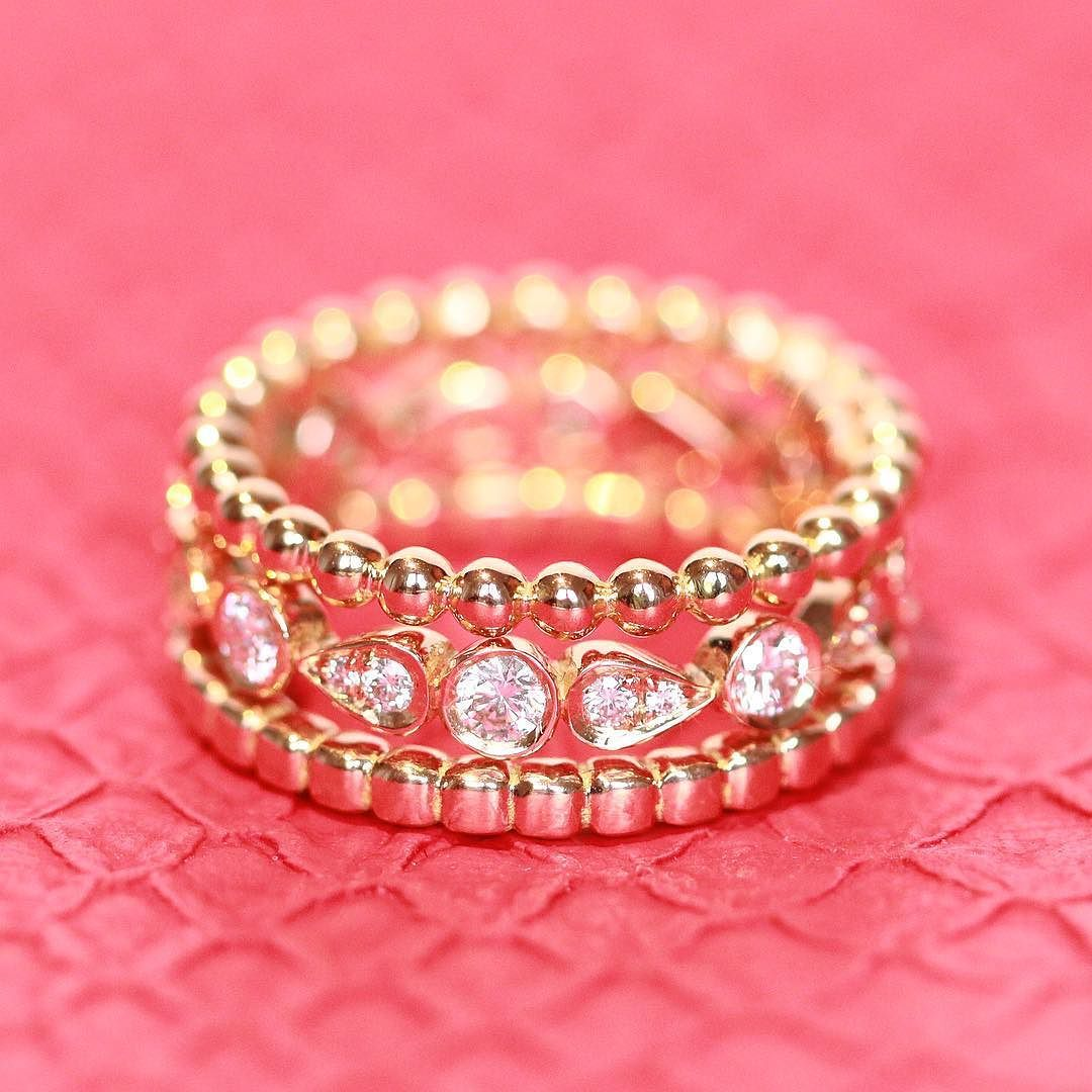 Mix&Match your own set of combo rings in different colours of gold ...