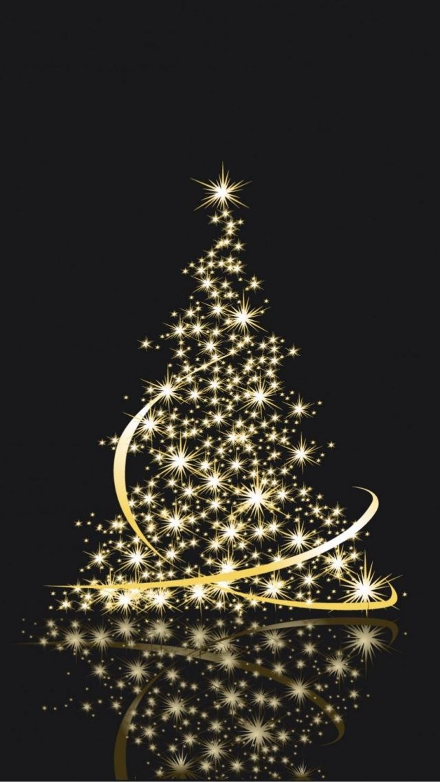 Elegant Gold And Black Christmas Tree With Xmas Elements In 2020 Black Christmas Trees Black Christmas Merry Christmas Card Greetings