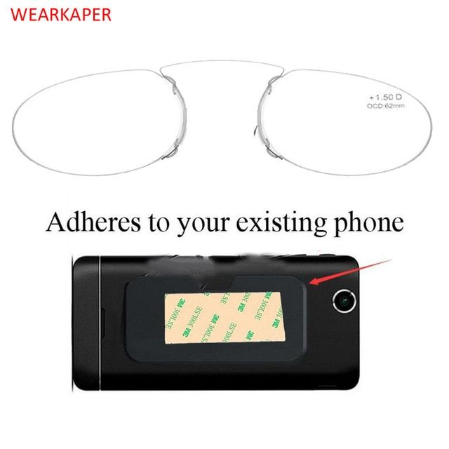 1a5eb252b70 WEARKAPER Pince Nez Style Nose Resting Pinching Portable Thin Pince-Nez  Optical Reading Glasses No Arm Men Women 1.50 2.00 2.5 Review