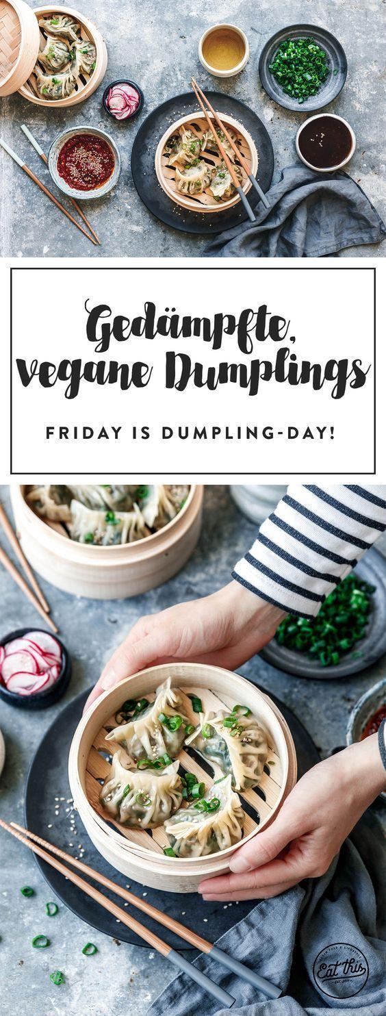 Gedämpfte vegane Dumplings · Eat this! Foodblog • Vegane Rezepte • Stories