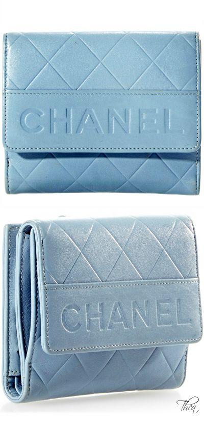 Vintage Chanel Blue Caviar Wallet §