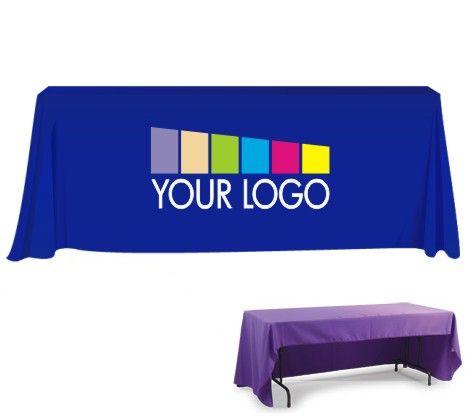 Custom Table Cloth With Logo | Custom Printed Table Throw | Logo Table Cover
