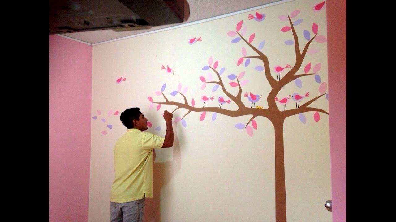Como decorar cuarto para bebe recien nacido pintando for Mural para habitacion
