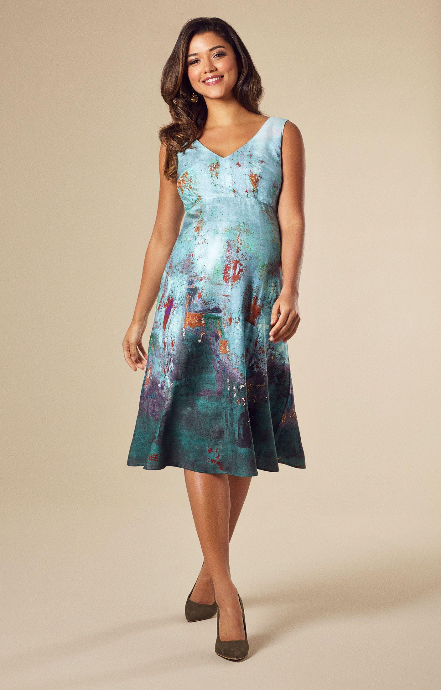 10733f3238ea Ria Maternity Dress Short Aquatic Ombre by Tiffany Rose