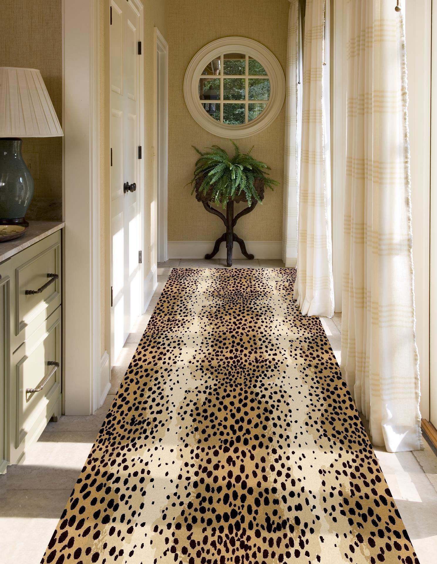 Cheetah Hall Runner Can Also Be Used For Stair Runner