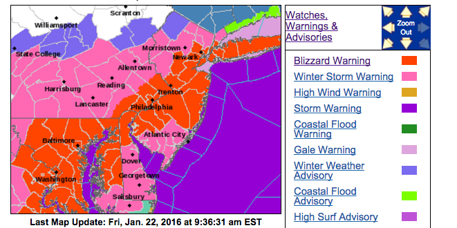 Major East Coast snowstorm targets DC through Boston Heres what