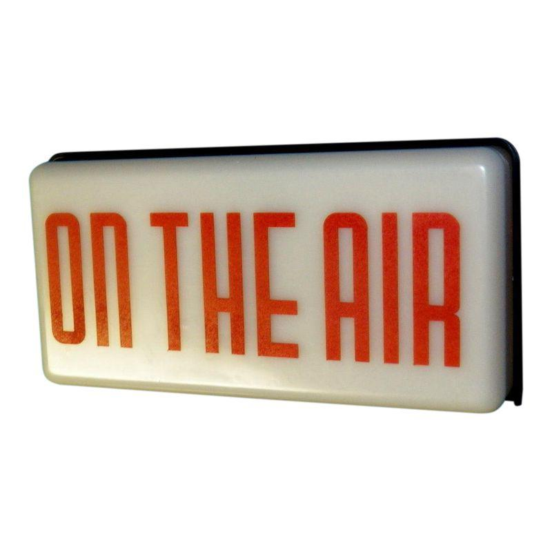 Vintage Radio Station On Air Sign On Air Sign Radio Station Vintage Radio