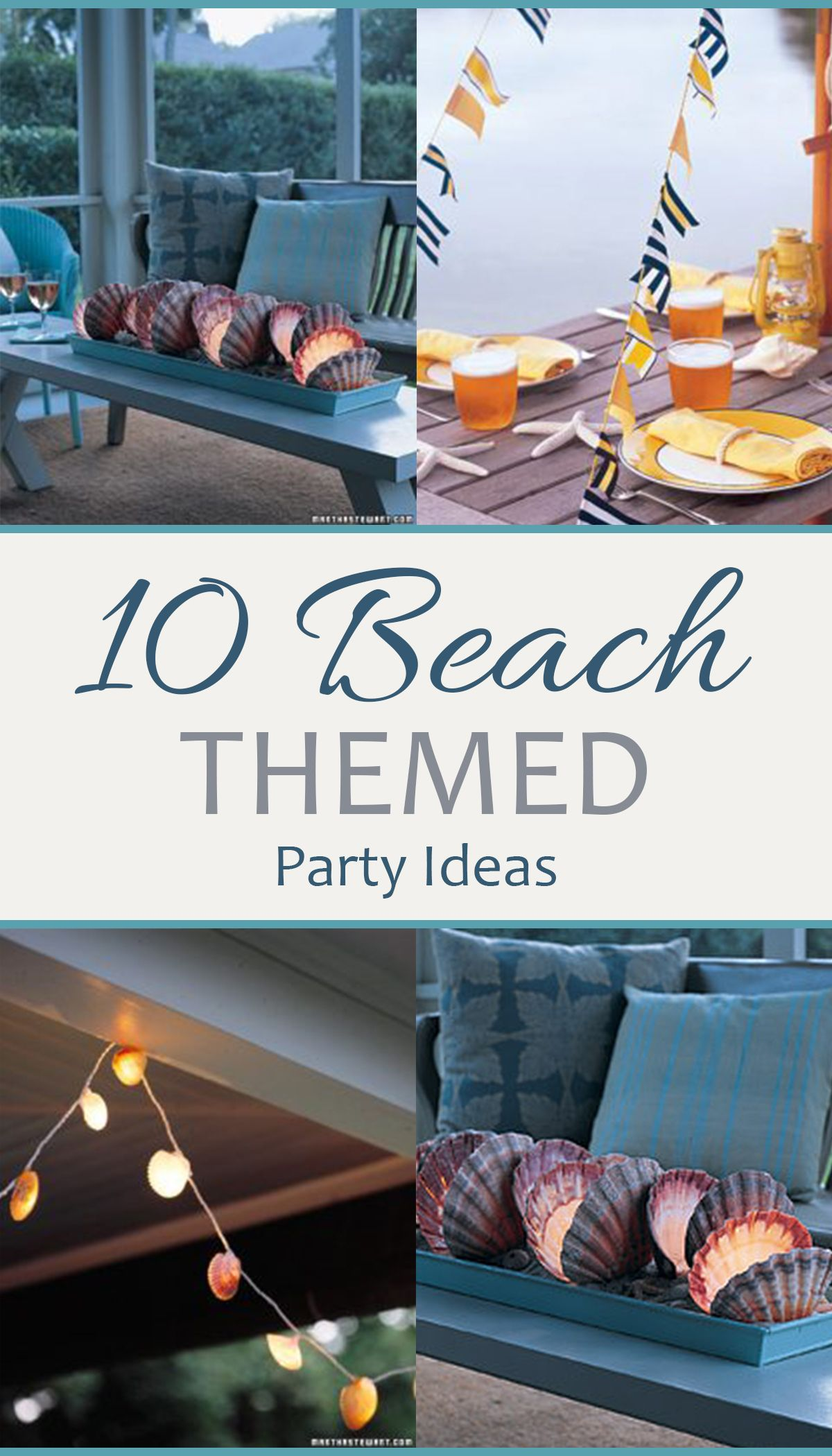 Beach Themed Party Ideas, Beach Party Ideas, Coastal Parties, Outdoor