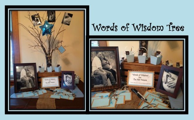 """Words Of Wisdom"" tree for the new parent\parents"
