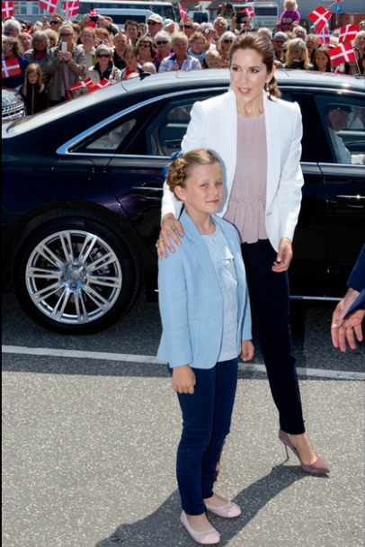 Princess Isabella of Denmark's first official engagement on 6 June 2015: