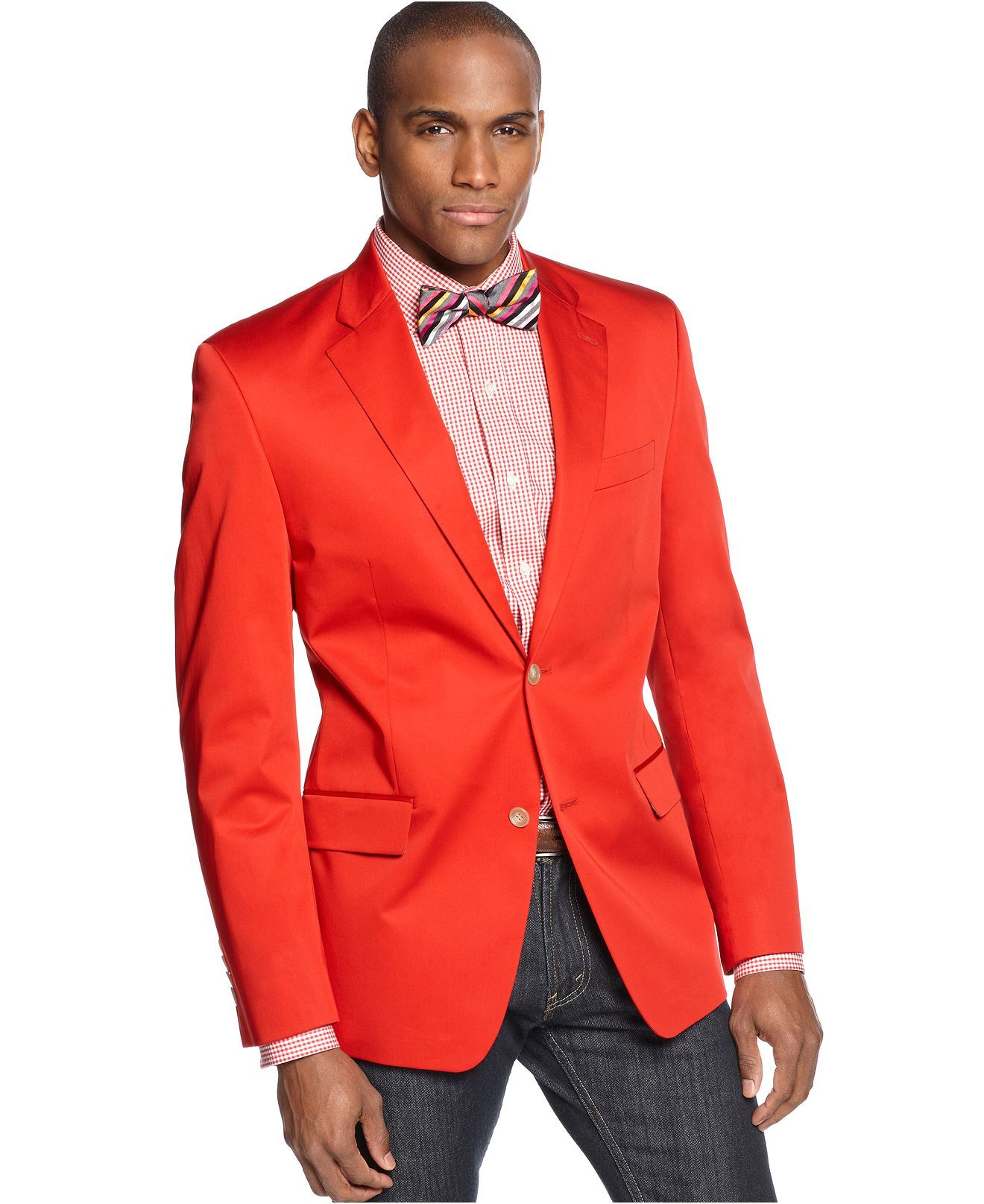 Blazers Jackets Mens: Sean John Jacket, Solid Cotton Blazer