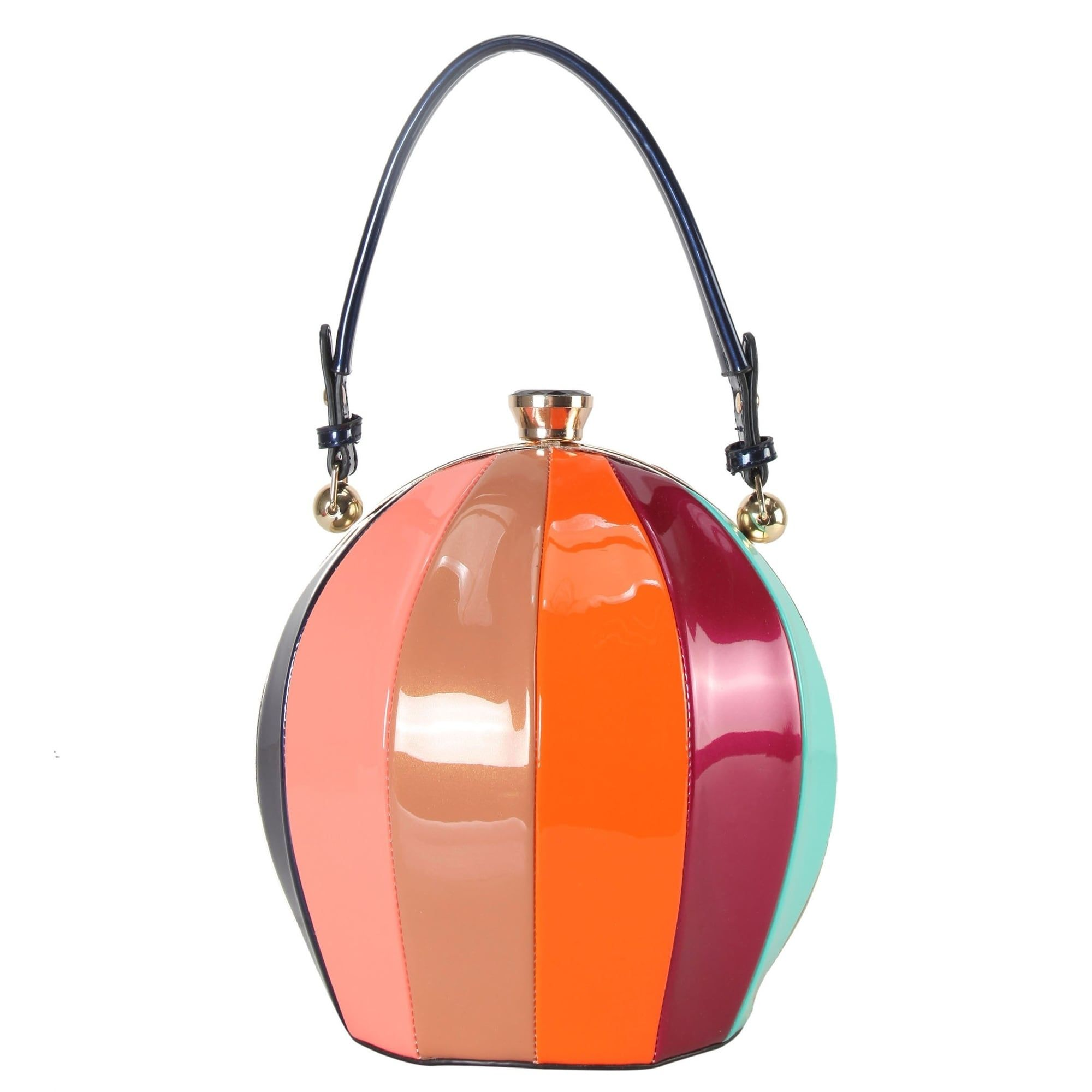 Rimen   Co. Rainbow Color Ball Shape Top Handle Handbag - S ...