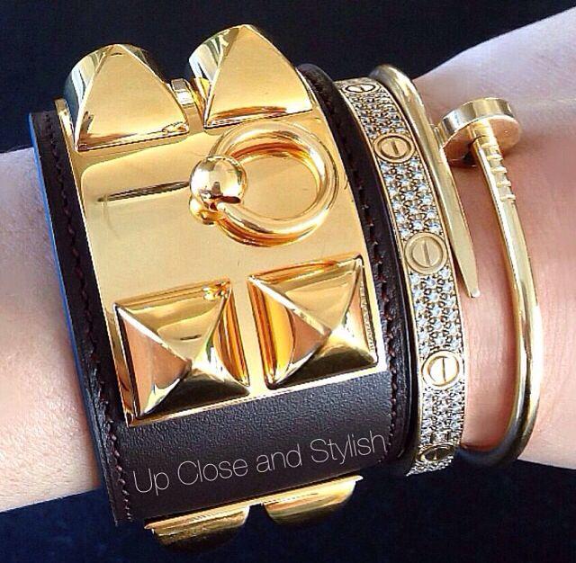 d451e535379 Cartier and Hermes bracelets