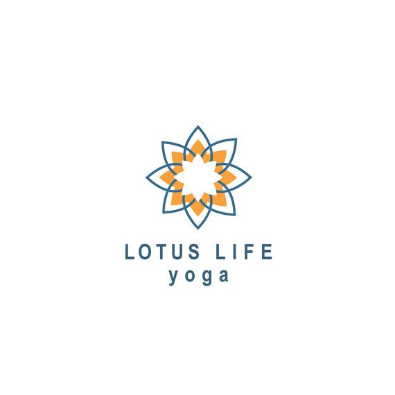 Yoga logo, lotus flower logo, custom business logo ...