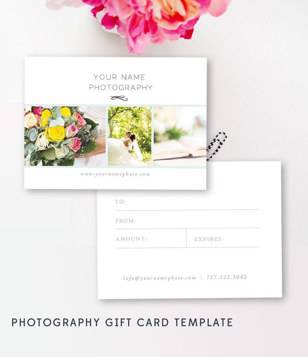 Gift Card Templates, Photo Marketing, Digital Design Files ...