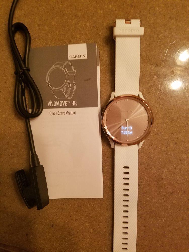 Garmin Vivomove HR Hybrid Smartwatch Sport Rose Gold Small