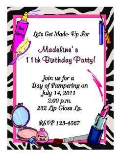Beauty Salon Birthday Invitations wwwzazzlecom
