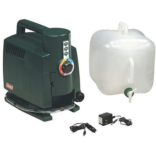 Propane Camping Traveling Hot Water Kit Heats Up To 40 Gal Less 5 Seconds Coleman With Images Portable Water Heater
