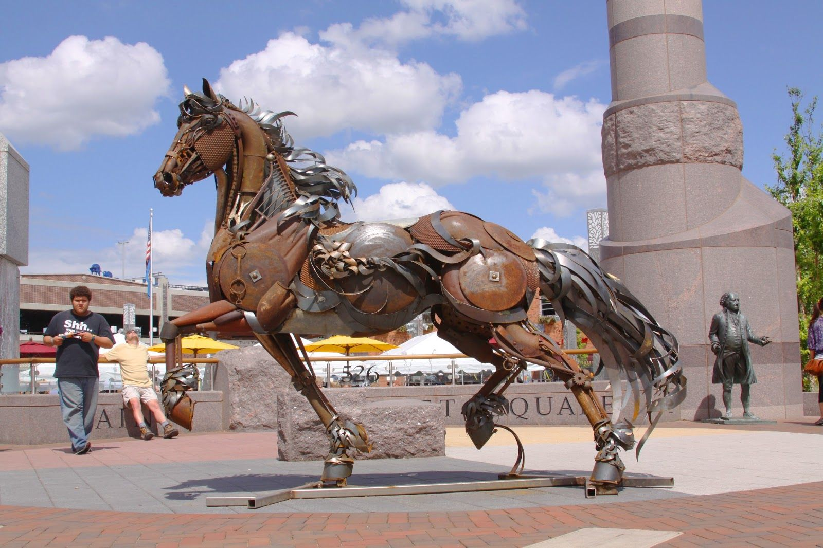 John lopez studio august 2011 horse sculpture metal