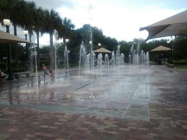Winter Garden Fl Interactive Fountain Downtown Winter