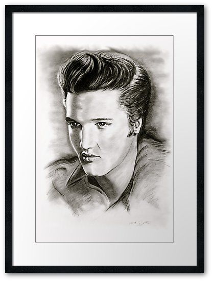 Elvis in black and white gerahmtes wandbild by gittag74 printing printable wall art and framed prints