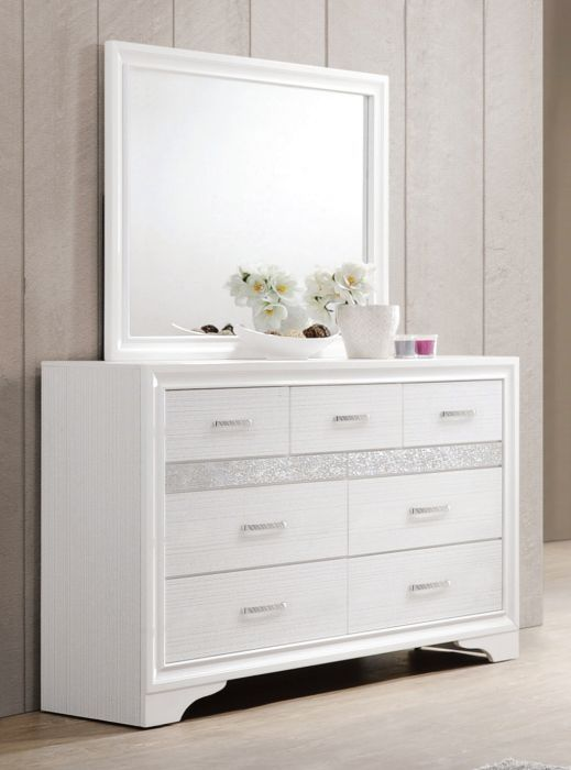 Best Miranda White Dresser Coaster 205113 In 2020 Solid Wood 400 x 300