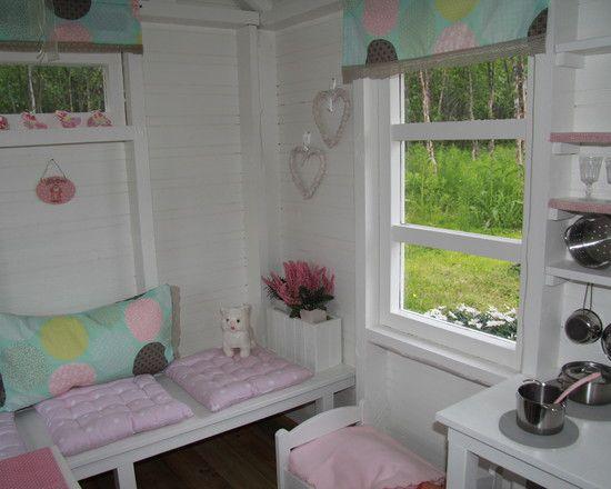spielhaus lieblich eingerichtet kinder pinterest haus spielhaus und spielhaus garten. Black Bedroom Furniture Sets. Home Design Ideas