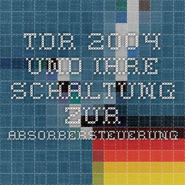 TDR 2004 und ihre Schaltung zur Absorbersteuerung   Pool ...