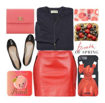 """"""""""" by cerato-dsn ❤ liked on Polyvore featuring Chanel, Barbara Bui, Kate Spade, Moschino, Too Faced Cosmetics, Libertine and Natalie B"""