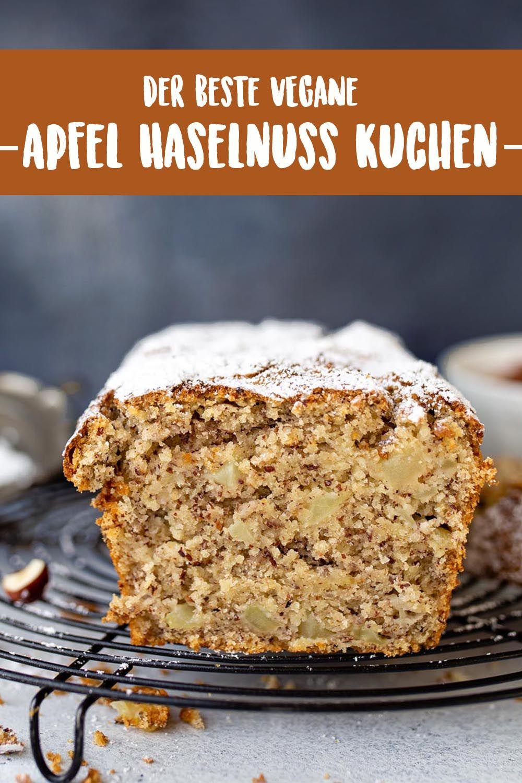 Einfacher veganer Apfel-Haselnusskuchen | Vanillacrunnch | Food & Lifestyle Blogger
