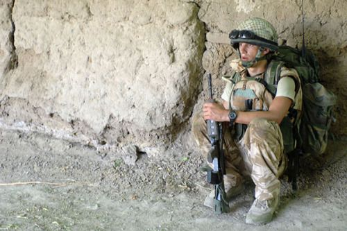 A soldier with X Company, the 2nd Battalion, the Parachute Regiment