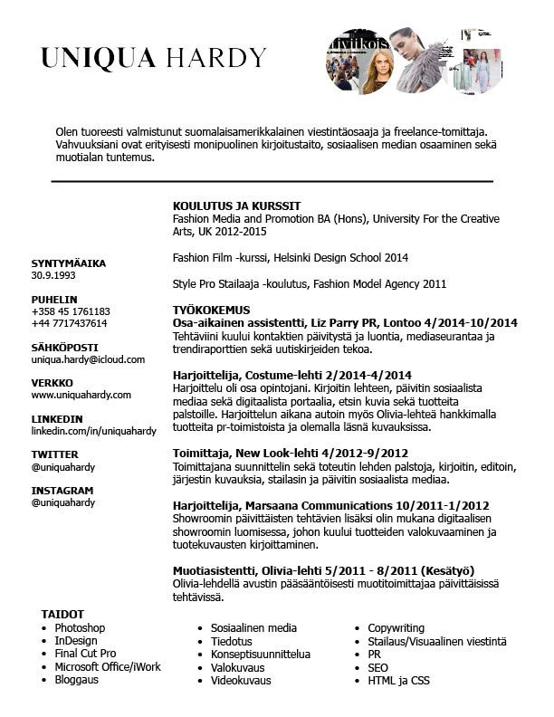 Ansioluettelo Ansioluettelot Pinterest - wharton resume template