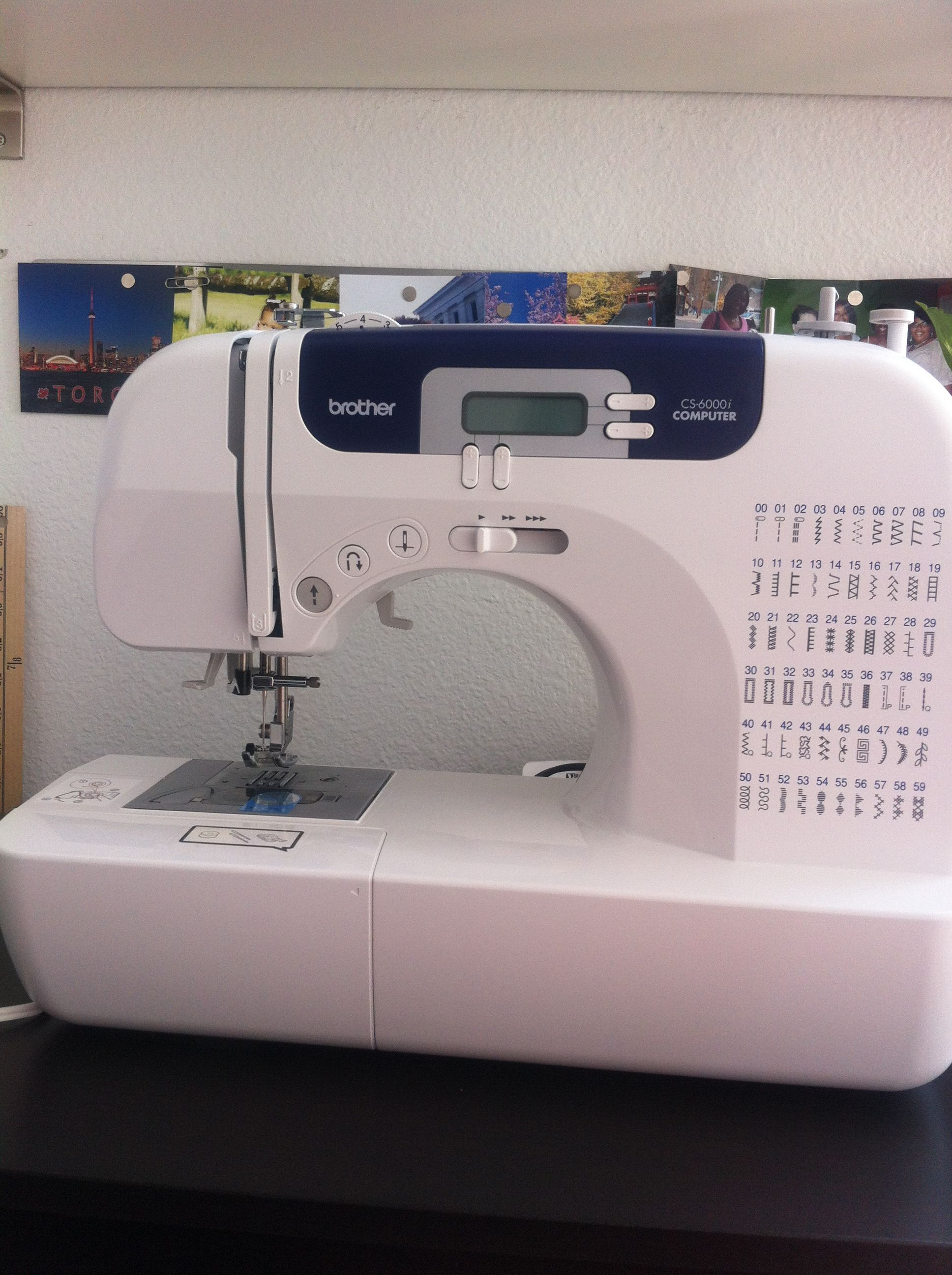 Setting up my new sewing machine. Brother cs6000i | Sewing ...