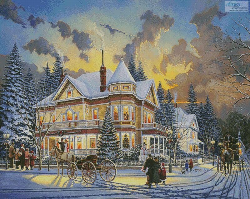 Artecy Cross Stitch. Christmas At Great Grandpa's (Large