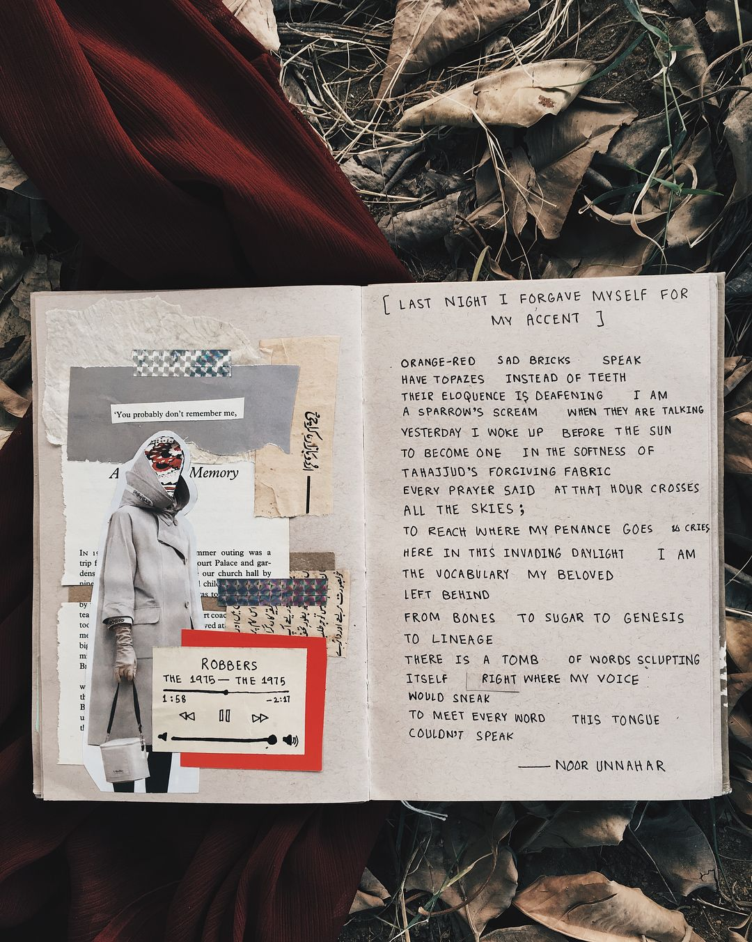 Last Night I Forgave Myself For My Accent Art Journal Poetry By Noor Unnahar
