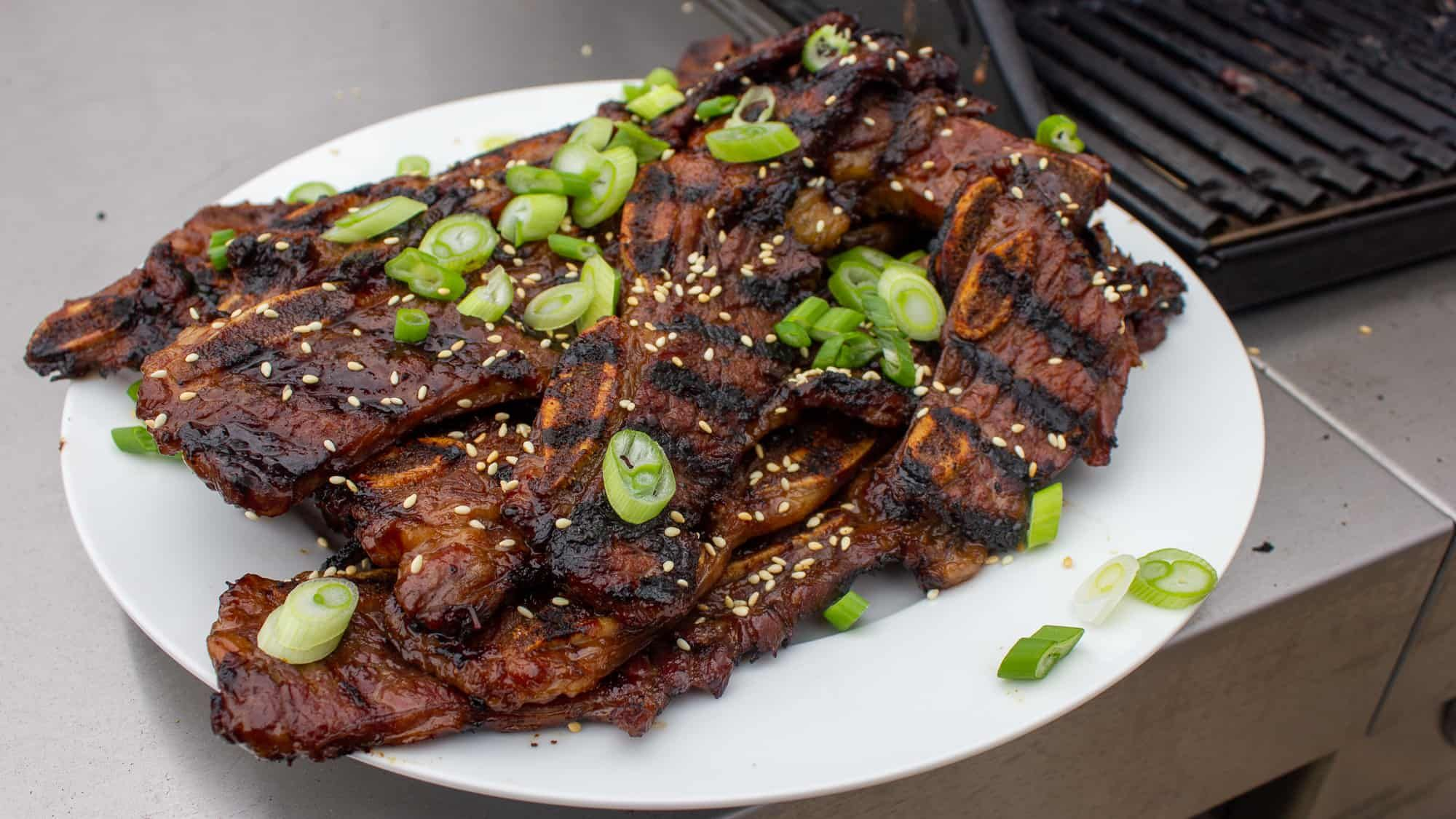 Kalbi Korean Bbq Short Ribs Recipe The Black Peppercorn Kalbi Thin Sliced Short Ribs In A Korean Marinade Once Pork Ribs Rib Recipes Sous Vide Recipes