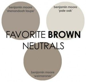 Brown Paint Color Benjamin Moore Shenandoah Taupe Pale Oak Weimaraner