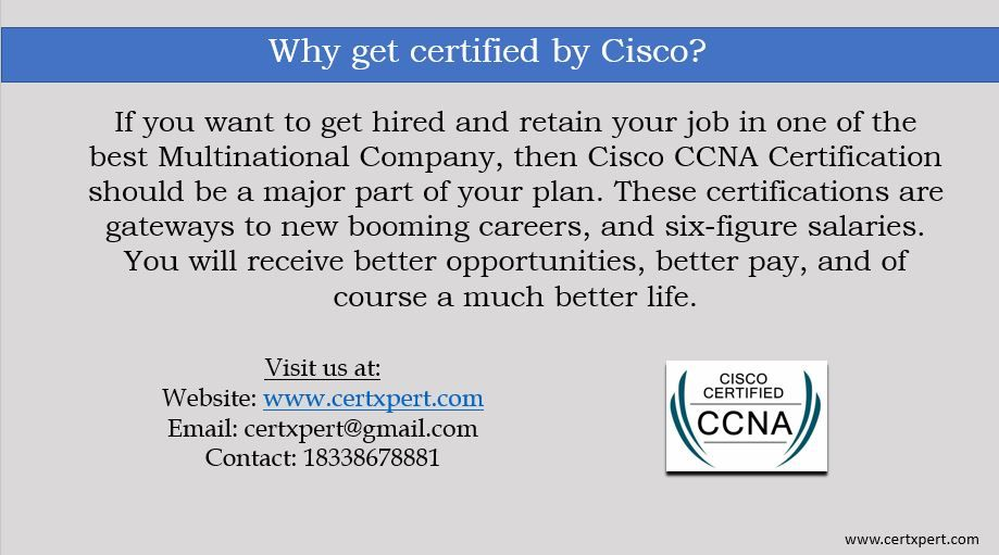 CCNA Certification pass for sure | CertXpert If you are searching ...