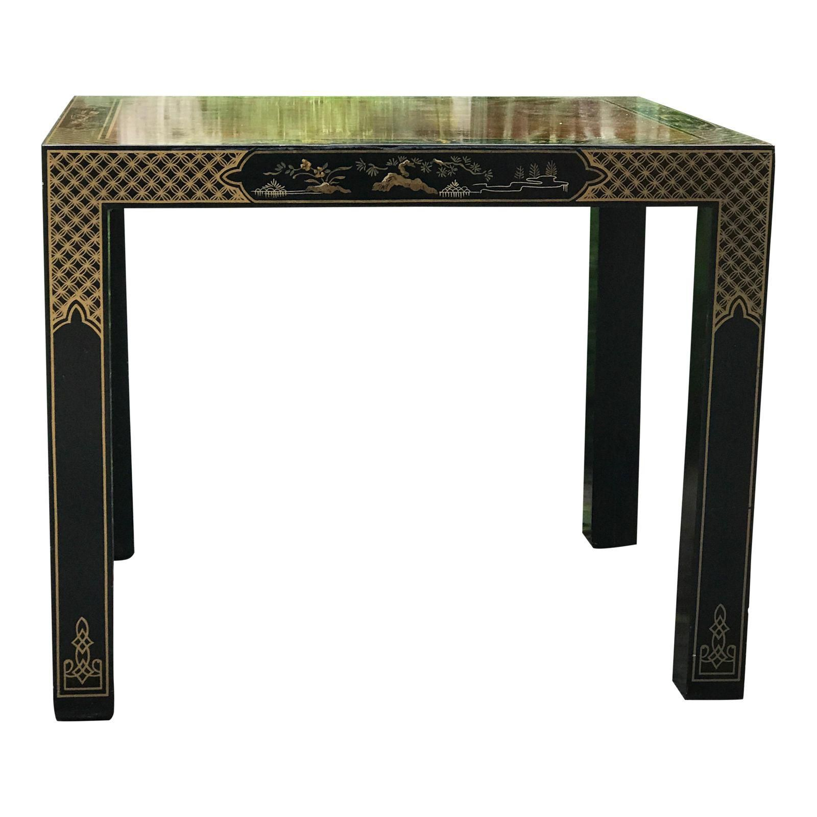 Vintage Drexel Heritage Chinoiserie Side Table Image 1 Of 6