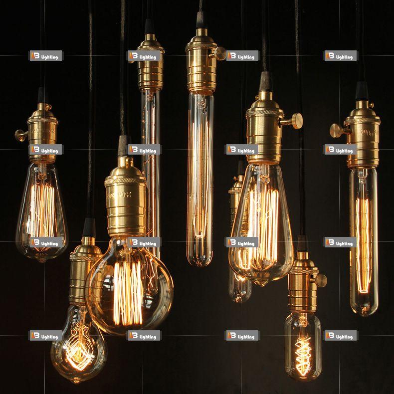 IB Lighting Edison carbon filament light bulb light bulb braided ...