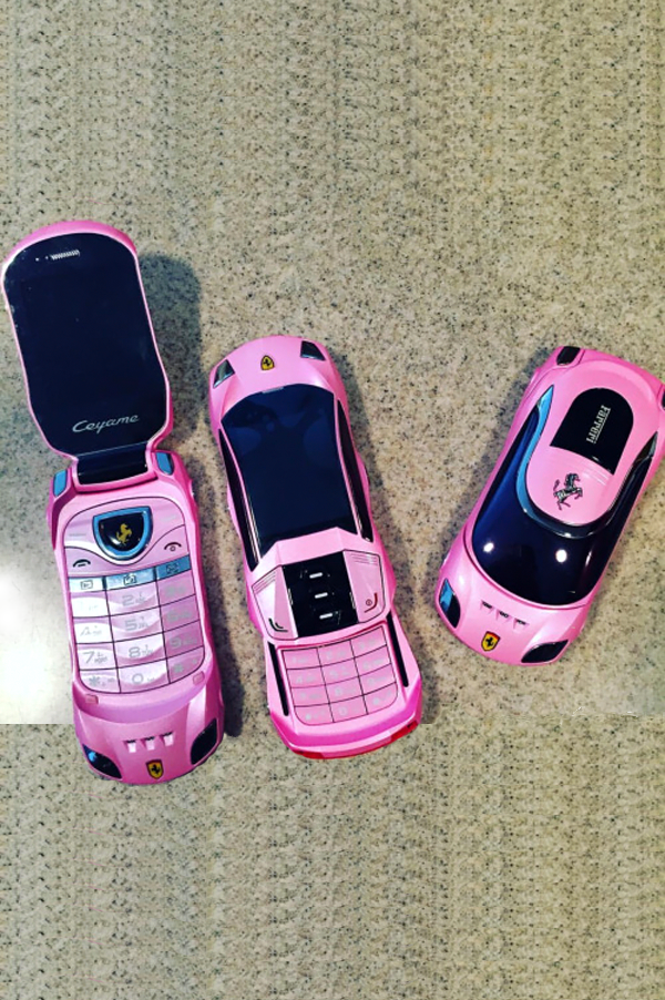 Rich Girl's Cartel Pink Ferrari Flip Trap Phone Rich