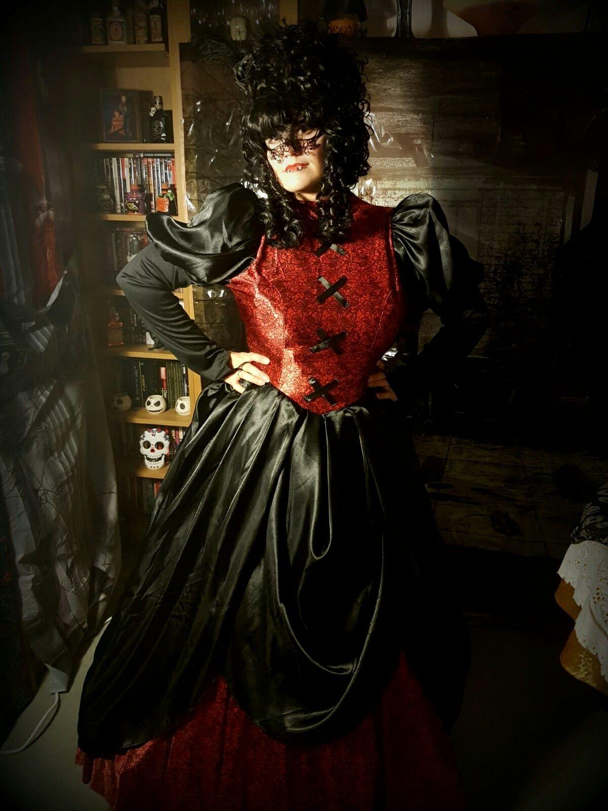 Gothic Masquerade Vampire Queen Ball Fancy Dress Halloween