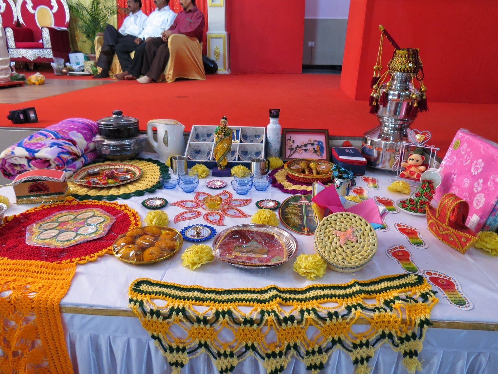 rukhwat table ideas Google Search Wedding crafts