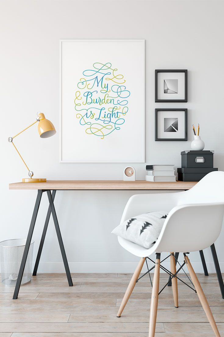 Colorful Calligraphy Wall Art For Your Office E