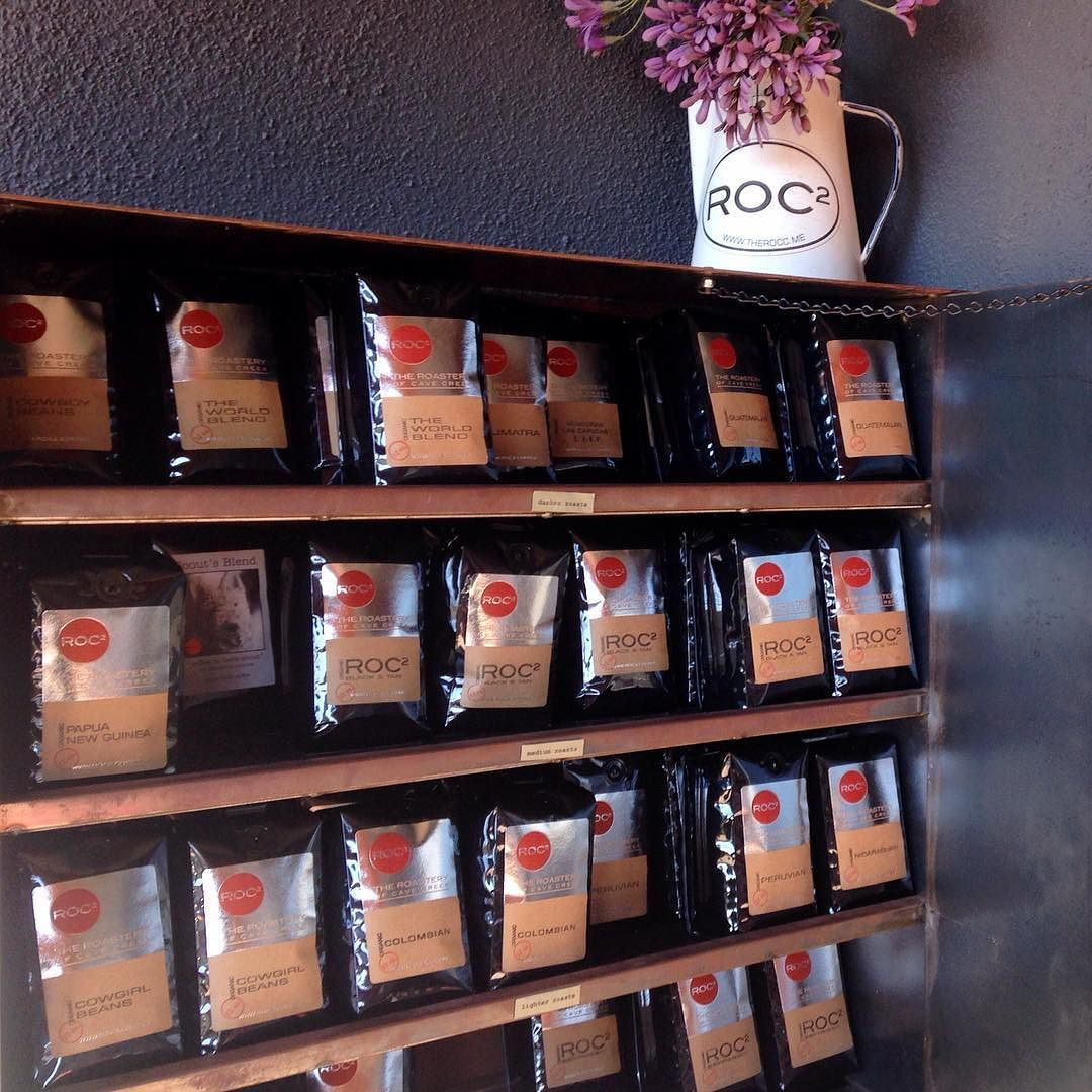 The coffee drop box at @roc2coffee in Cave Creek - stop by any time and pick up a bag of freshly roasted coffee