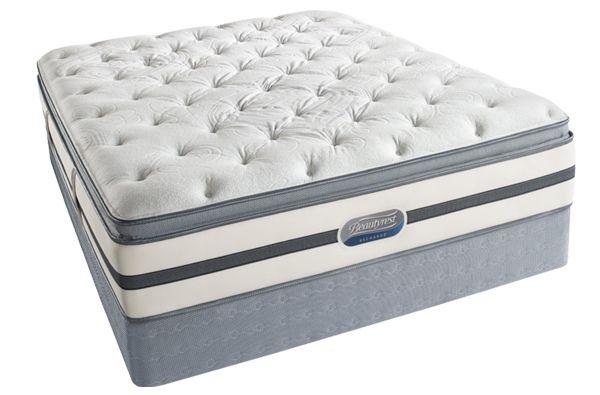 Simmons Recharge Hatteras 13 5 Plush Pillow Top Mattress Plush Pillows Queen Mattress Set