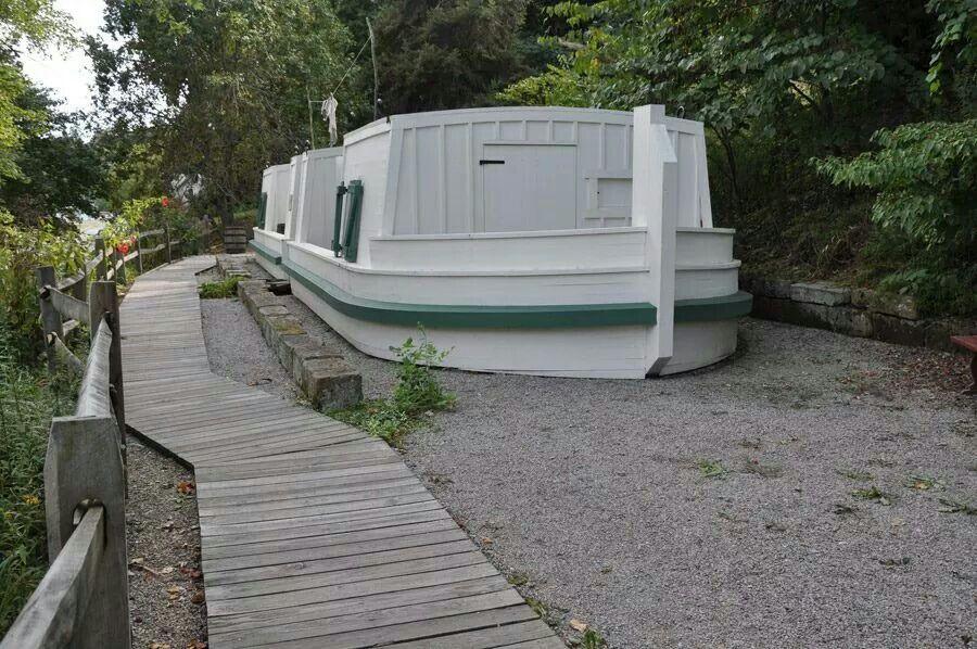 ???  Stationary canal boat?