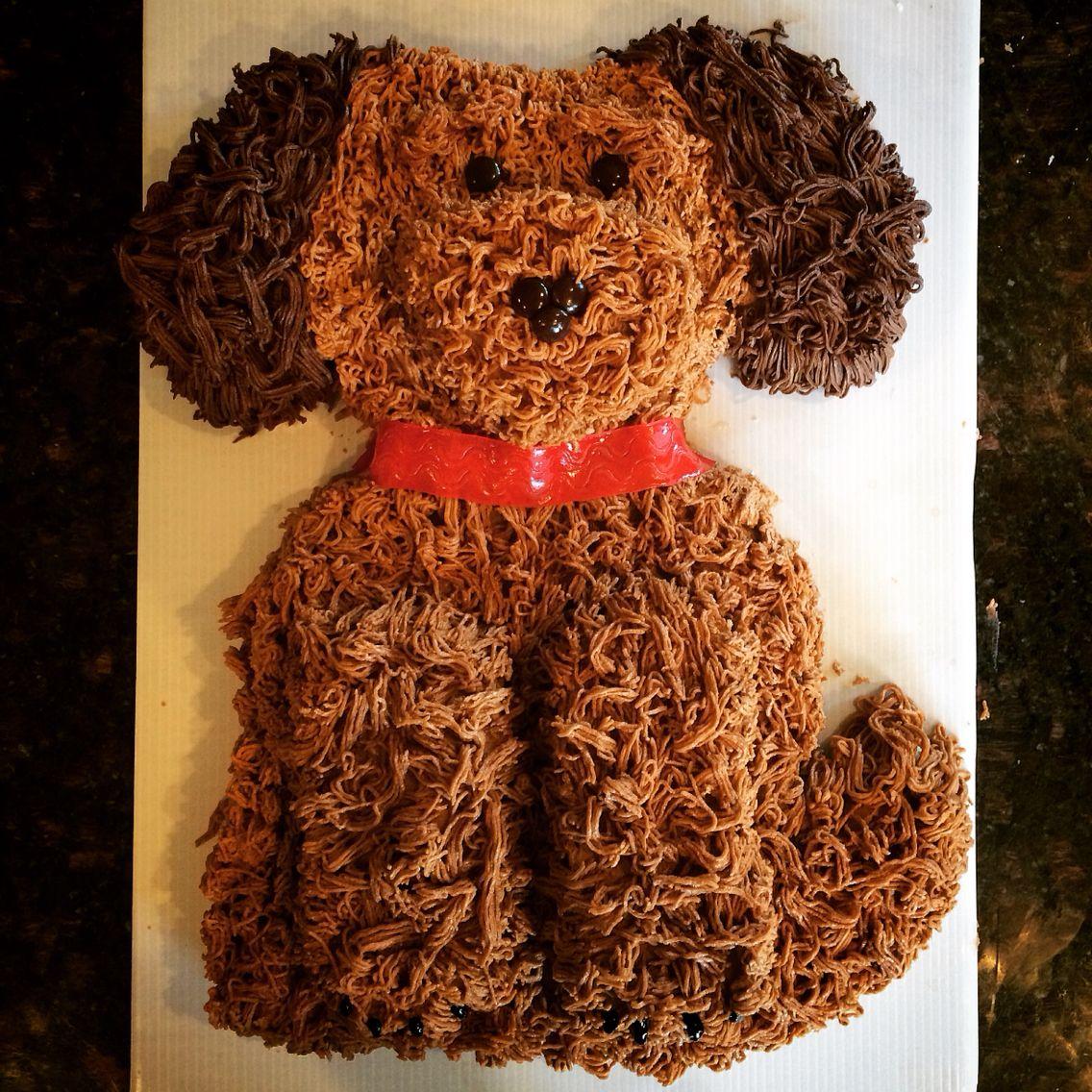 Ellie S 4th Birthday Cake Golden Doodle Dog Cake Based On Betty