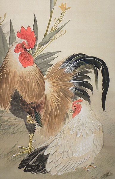 8a1636399b81cf roosters in japanese art - Google Search   Birds in Art   Rooster ...